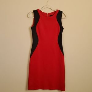 Red illusion dress